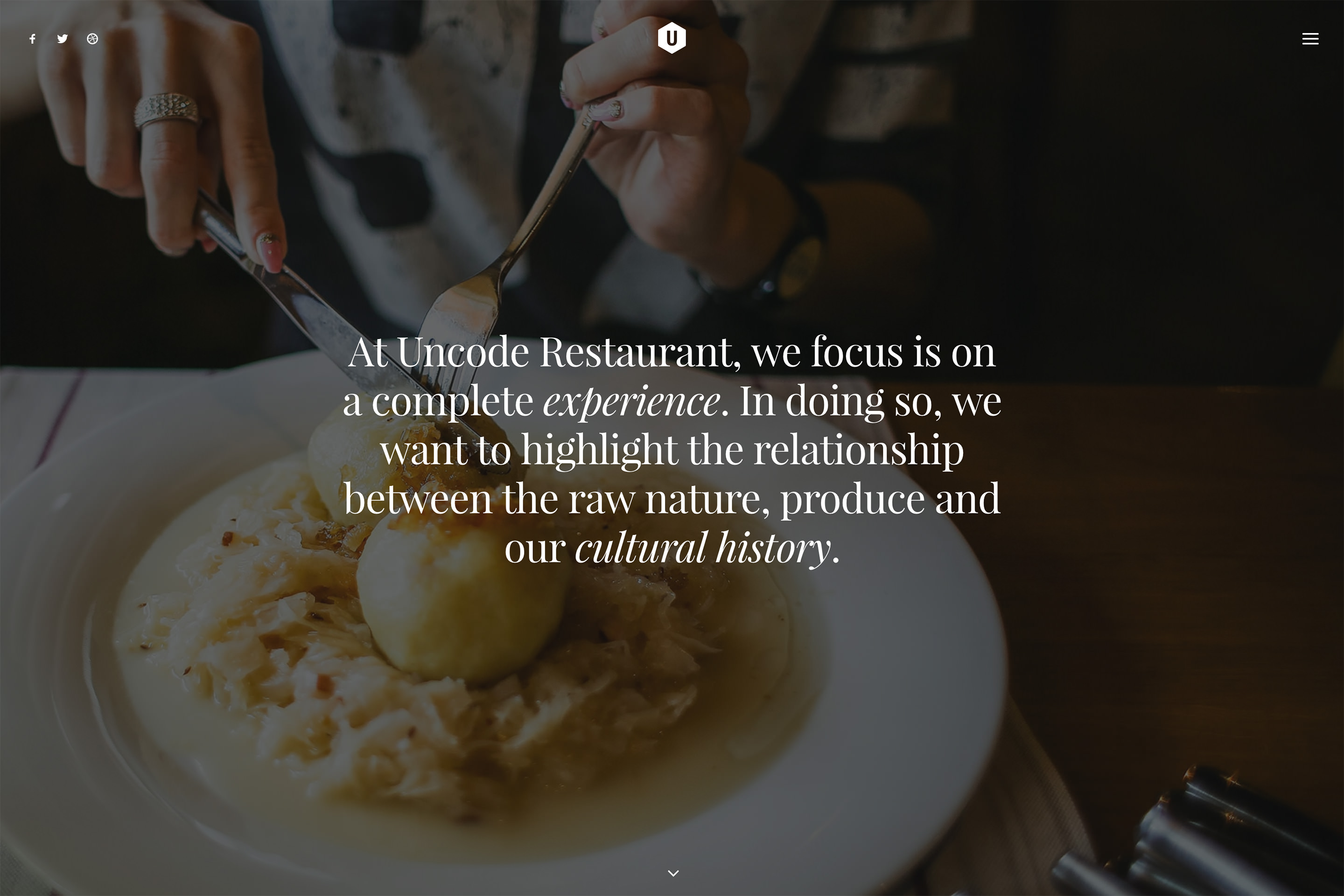 demo content homepage Classic Restaurant Uncode