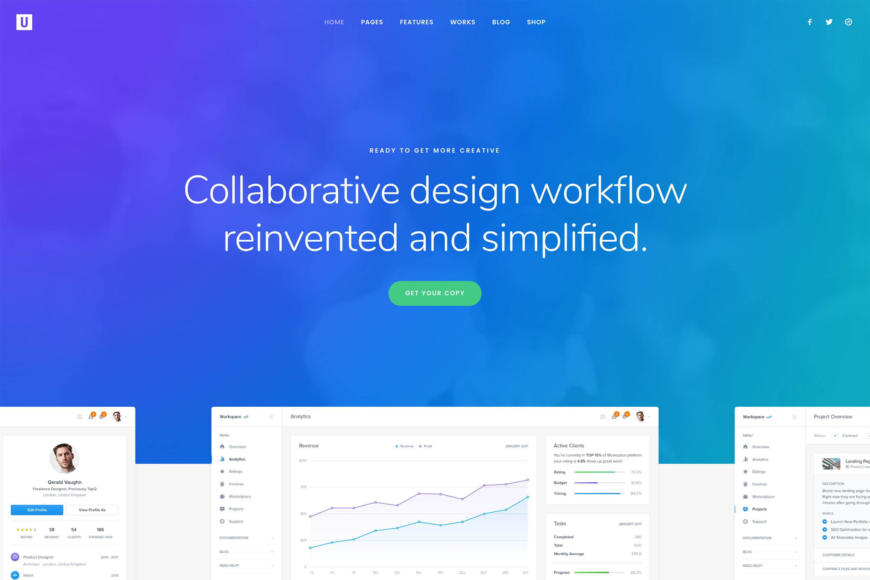 demo content homepage Classic Start Up Uncode
