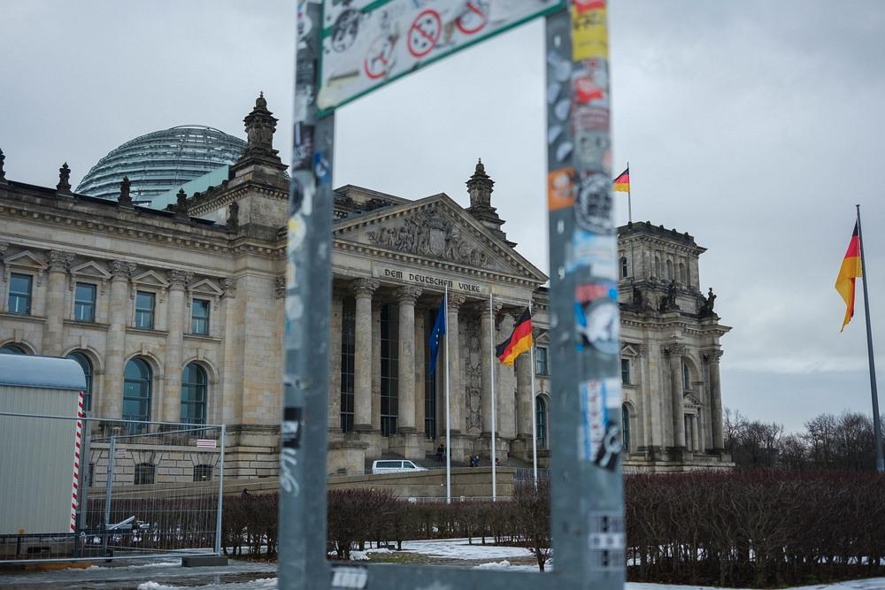 Siedziba Reichstagu w Berlinie, styczeń 2018