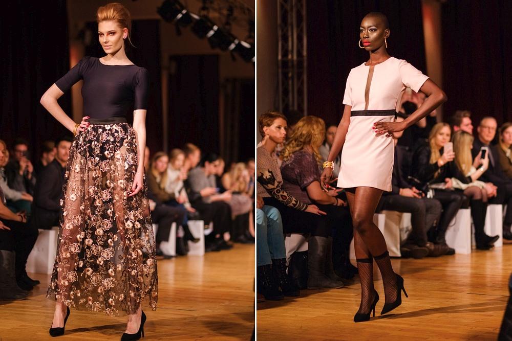 Modelki Ewa Niespodziana i Mame-Anta Wade na wybiegu podczas Berlin Fashion Week