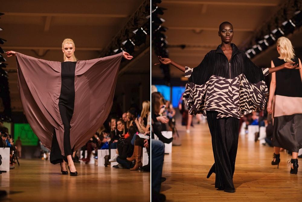 Modelki na wybiegu podczas Berlin Fashion Week