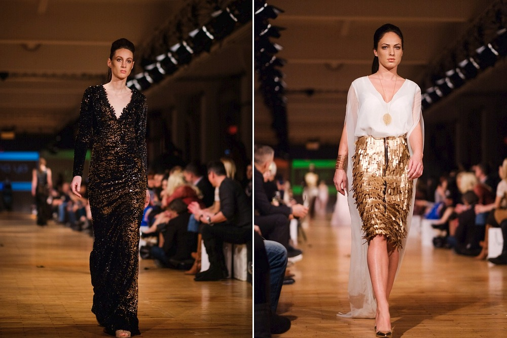 Modelki w kreacjach MO.YA Fashion podczas Berlin Fashion Week